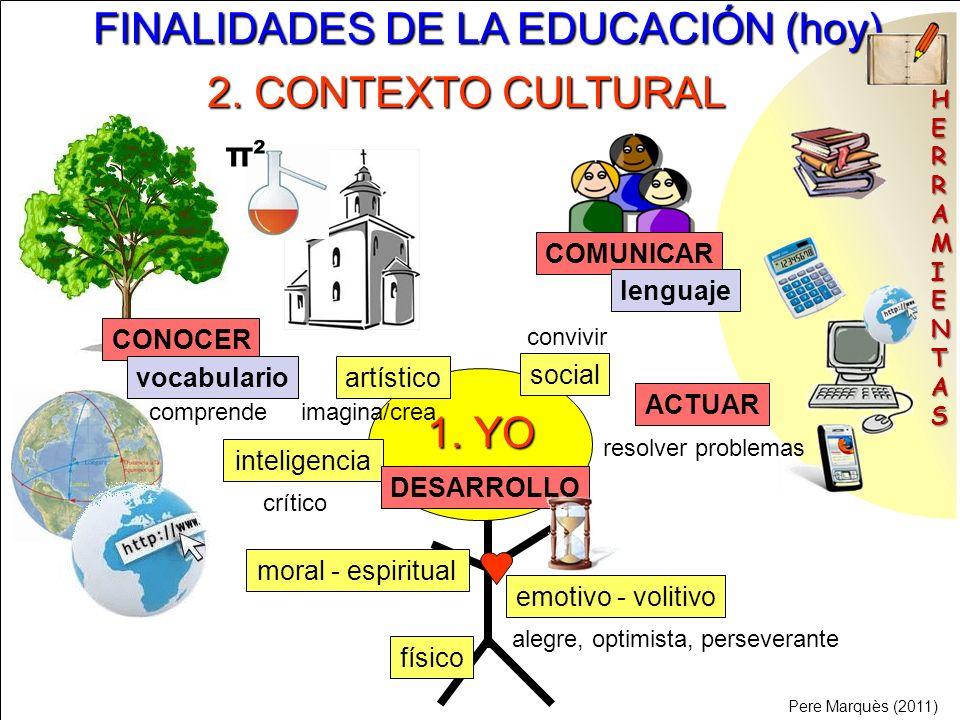 FINALIDADES DE LA EDUCACIÓN (hoy)