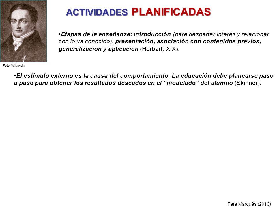 ACTIVIDADES PLANIFICADAS