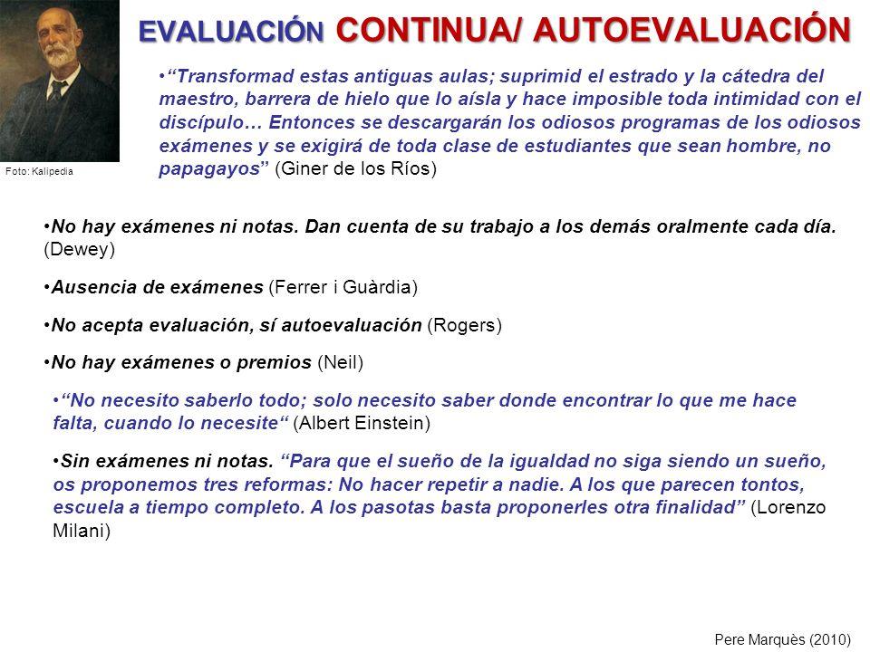 EVALUACIÓN CONTINUA/ AUTOEVALUACIÓN