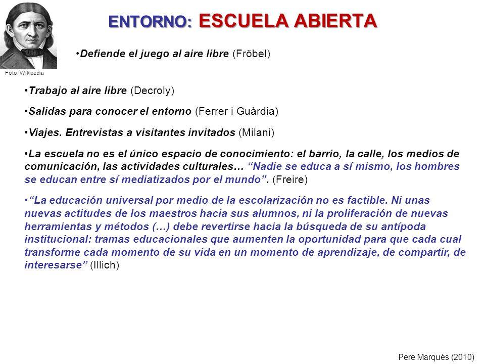 ENTORNO: ESCUELA ABIERTA