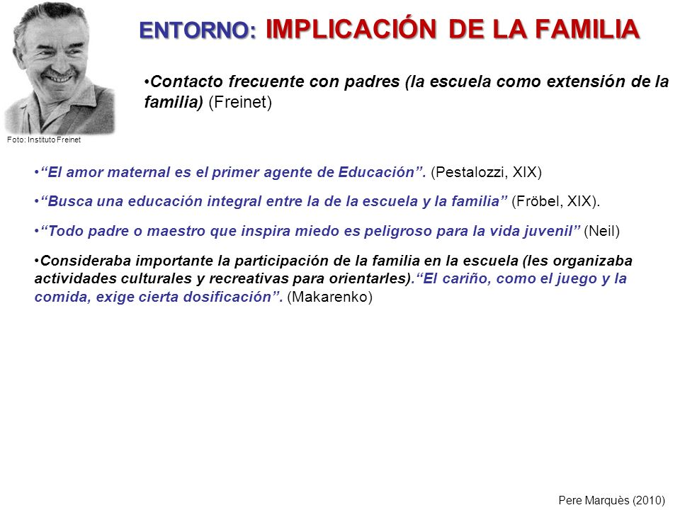 ENTORNO: IMPLICACIÓN DE LA FAMILIA