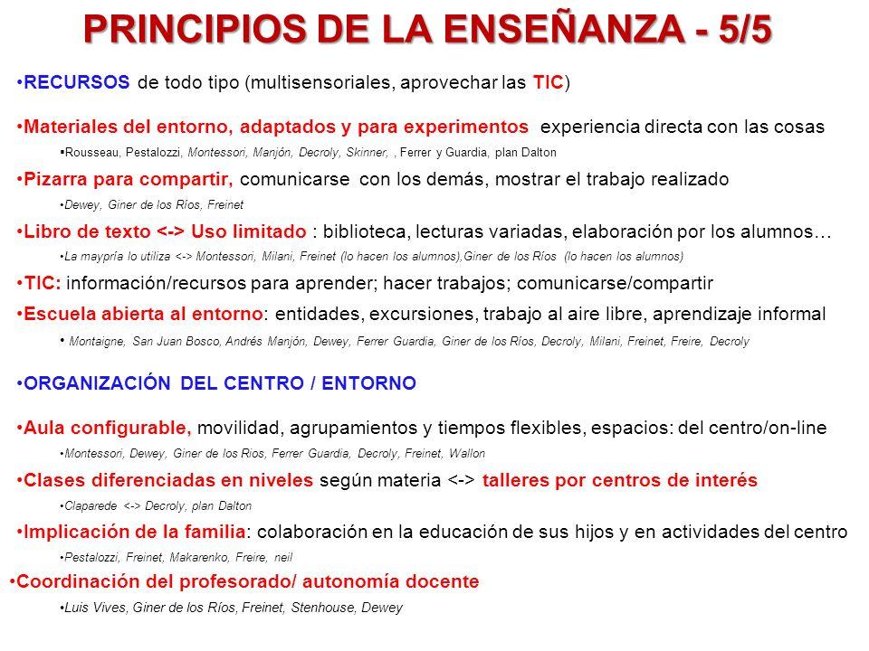 PRINCIPIOS DE LA ENSEÑANZA - 5/5