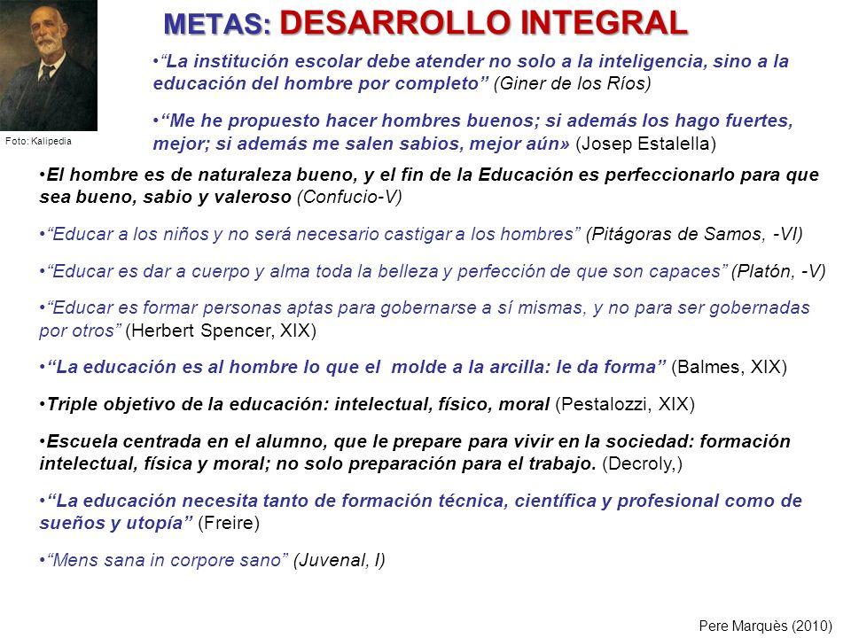 METAS: DESARROLLO INTEGRAL