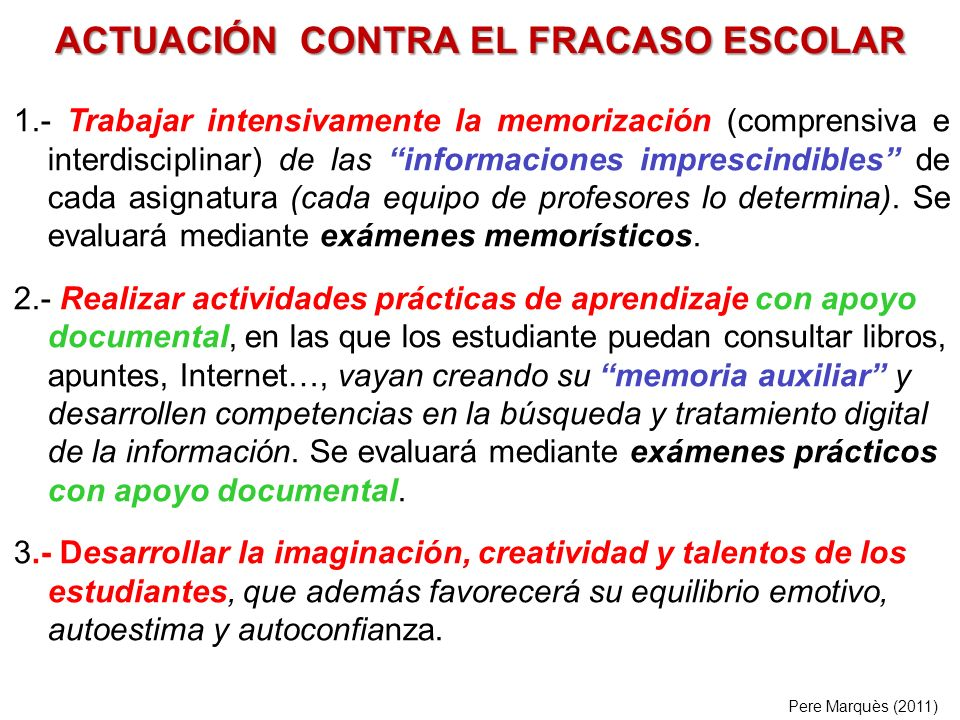 ACTUACIÓN CONTRA EL FRACASO ESCOLAR