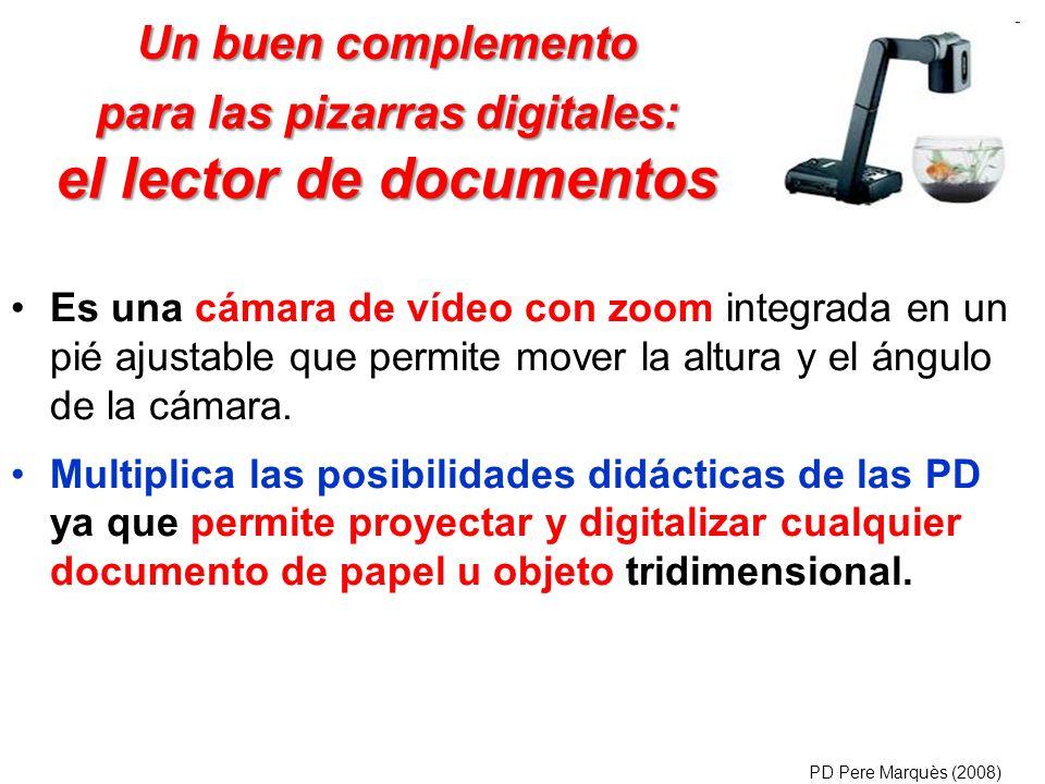 Un buen complemento para las pizarras digitales: el lector de documentos