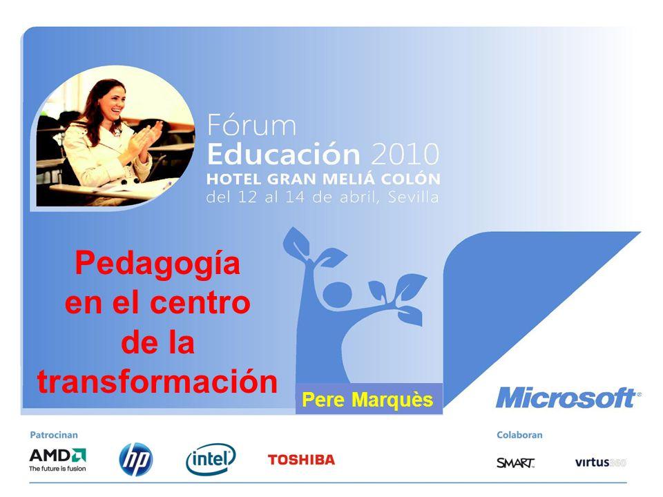 Pedagogía en el centro de la transformación