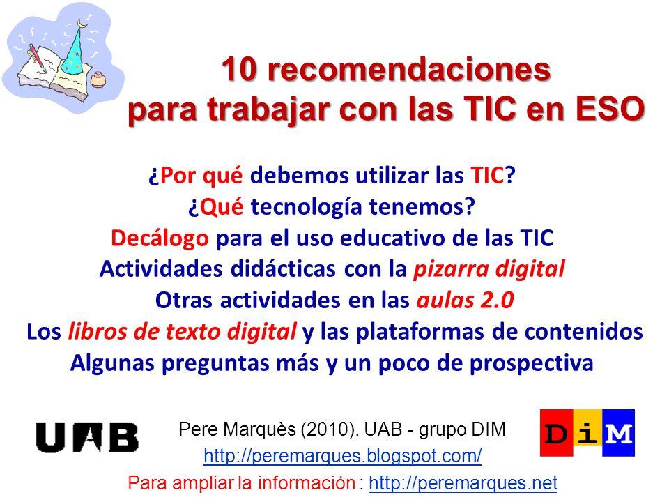 10 recomendaciones para trabajar con las TIC en ESO