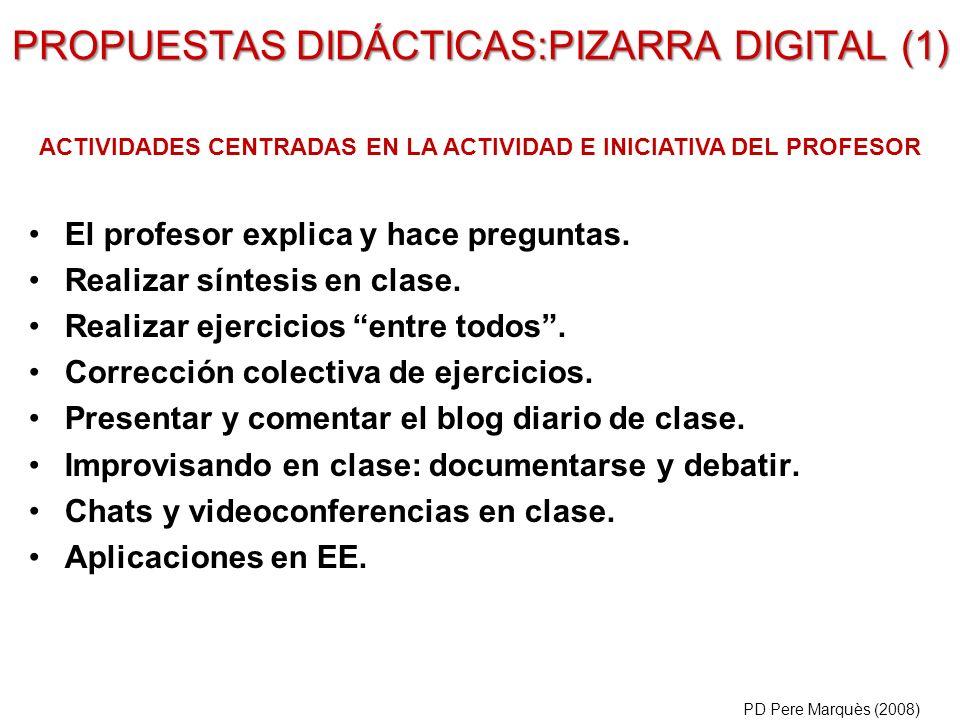 PROPUESTAS DIDÁCTICAS:PIZARRA DIGITAL (1)