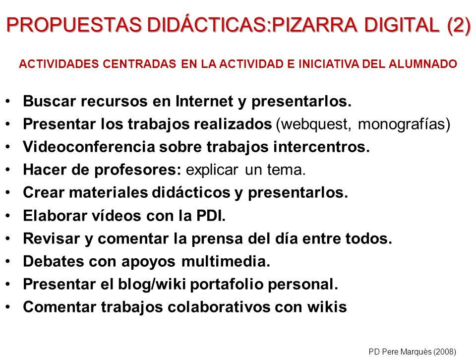 PROPUESTAS DIDÁCTICAS:PIZARRA DIGITAL (2)