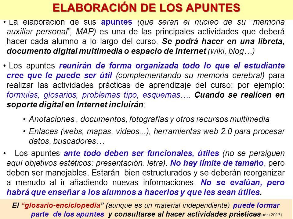 ELABORACIÓN DE LOS APUNTES