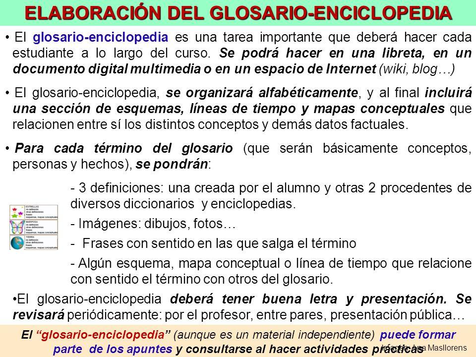 ELABORACIÓN DEL GLOSARIO-ENCICLOPEDIA