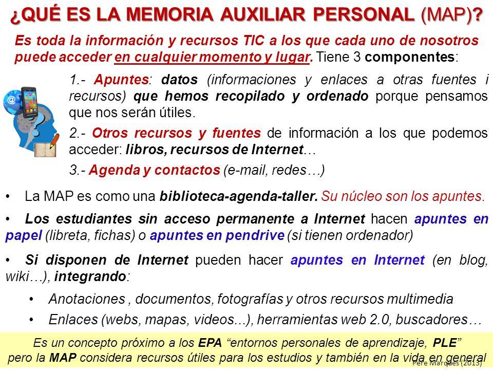 ¿QUÉ ES LA MEMORIA AUXILIAR PERSONAL (MAP)