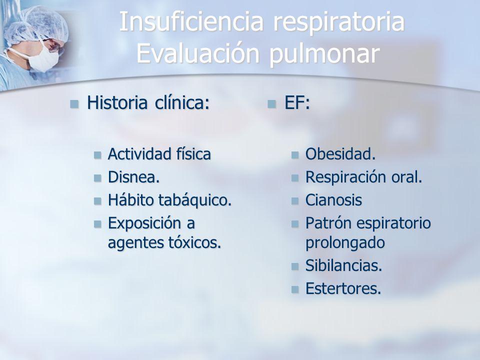 Insuficiencia respiratoria Evaluación pulmonar