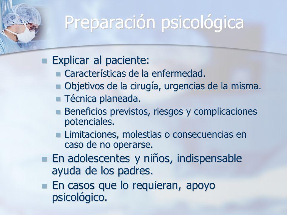 Preparación psicológica
