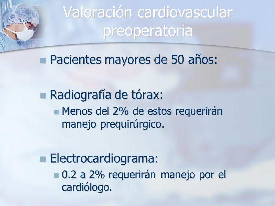 Valoración cardiovascular preoperatoria