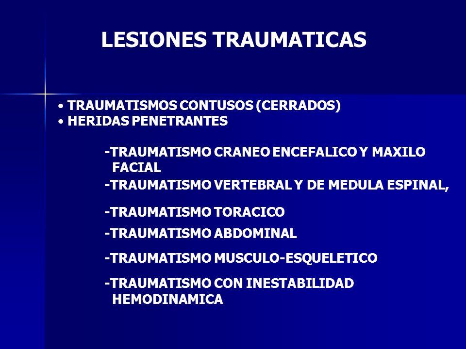 LESIONES TRAUMATICAS TRAUMATISMOS CONTUSOS (CERRADOS)