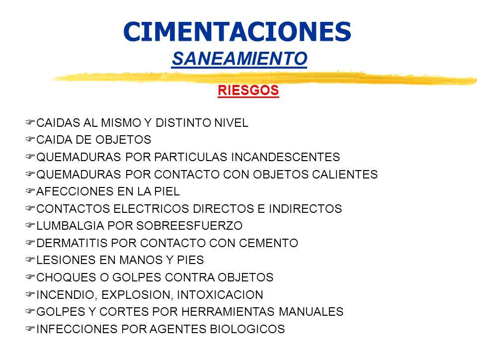 CIMENTACIONES SANEAMIENTO