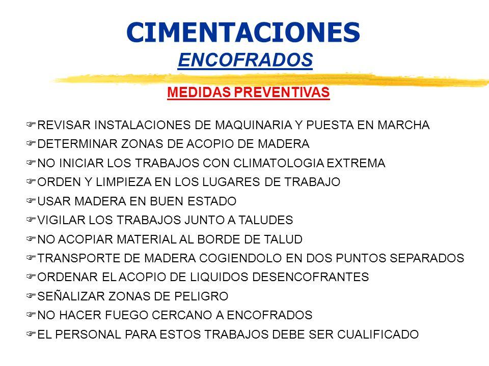 CIMENTACIONES ENCOFRADOS