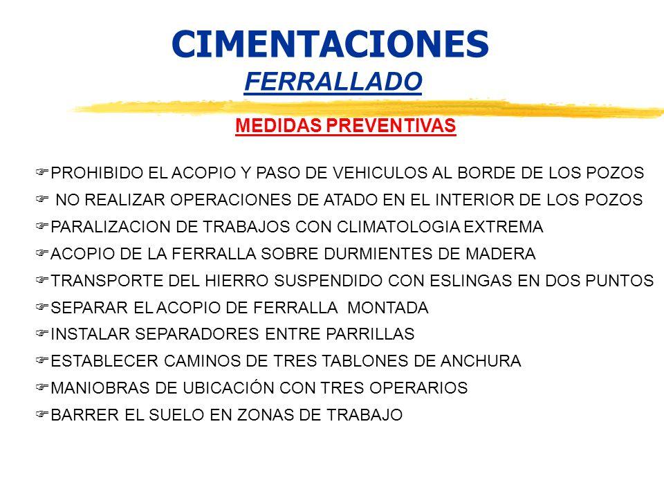 CIMENTACIONES FERRALLADO