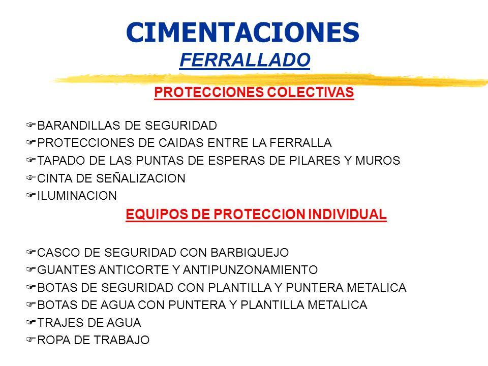 PROTECCIONES COLECTIVAS EQUIPOS DE PROTECCION INDIVIDUAL