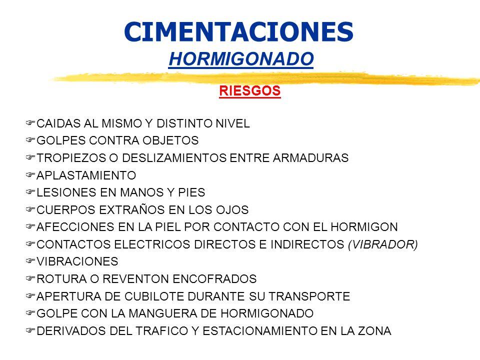 CIMENTACIONES HORMIGONADO