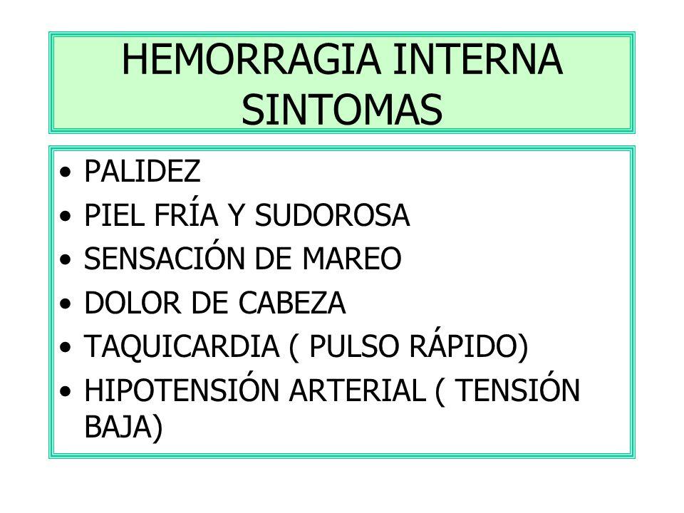 HEMORRAGIA INTERNA SINTOMAS