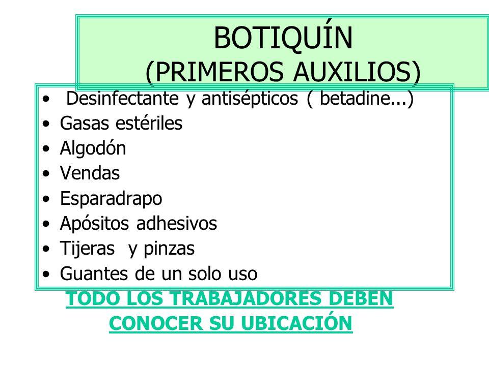 BOTIQUÍN (PRIMEROS AUXILIOS)