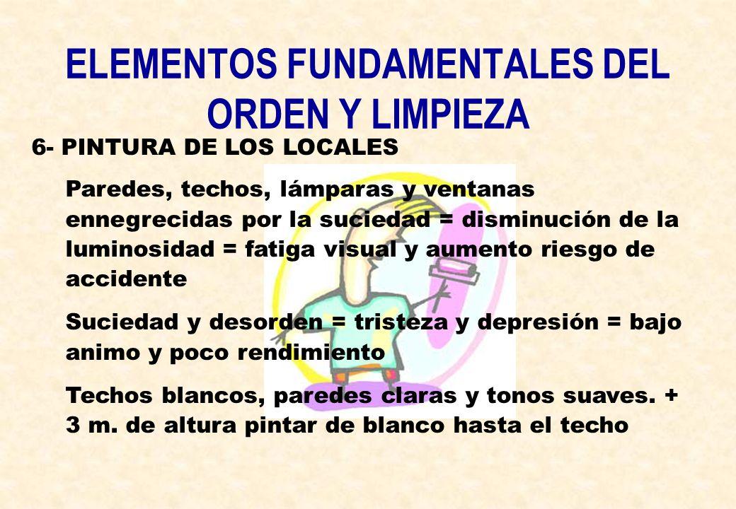 ELEMENTOS FUNDAMENTALES DEL ORDEN Y LIMPIEZA