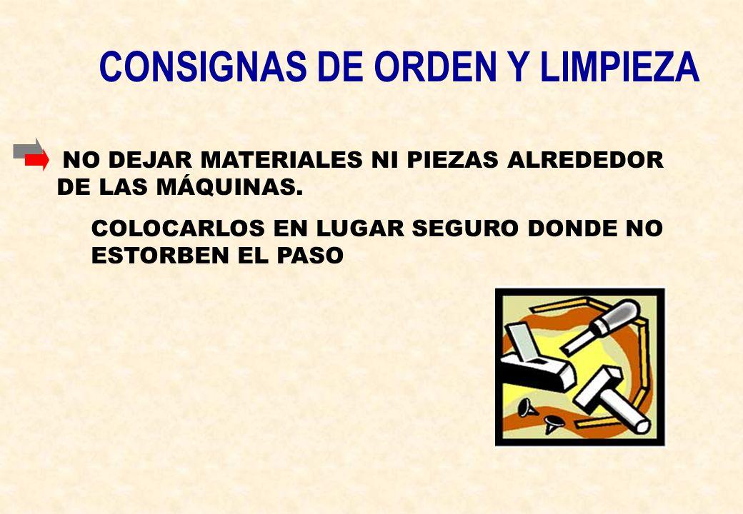 CONSIGNAS DE ORDEN Y LIMPIEZA