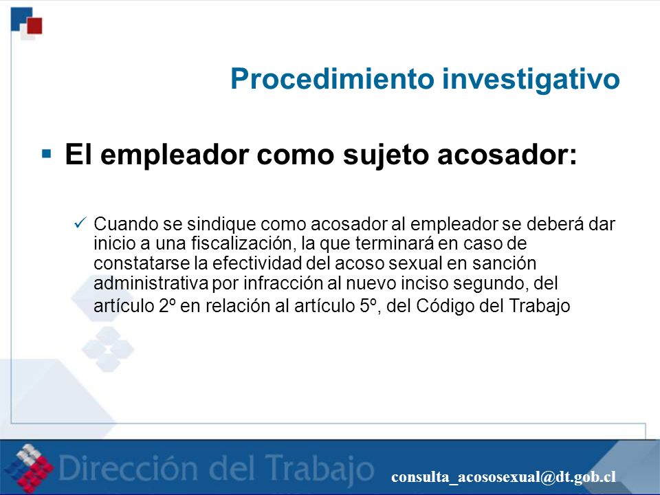 Procedimiento investigativo