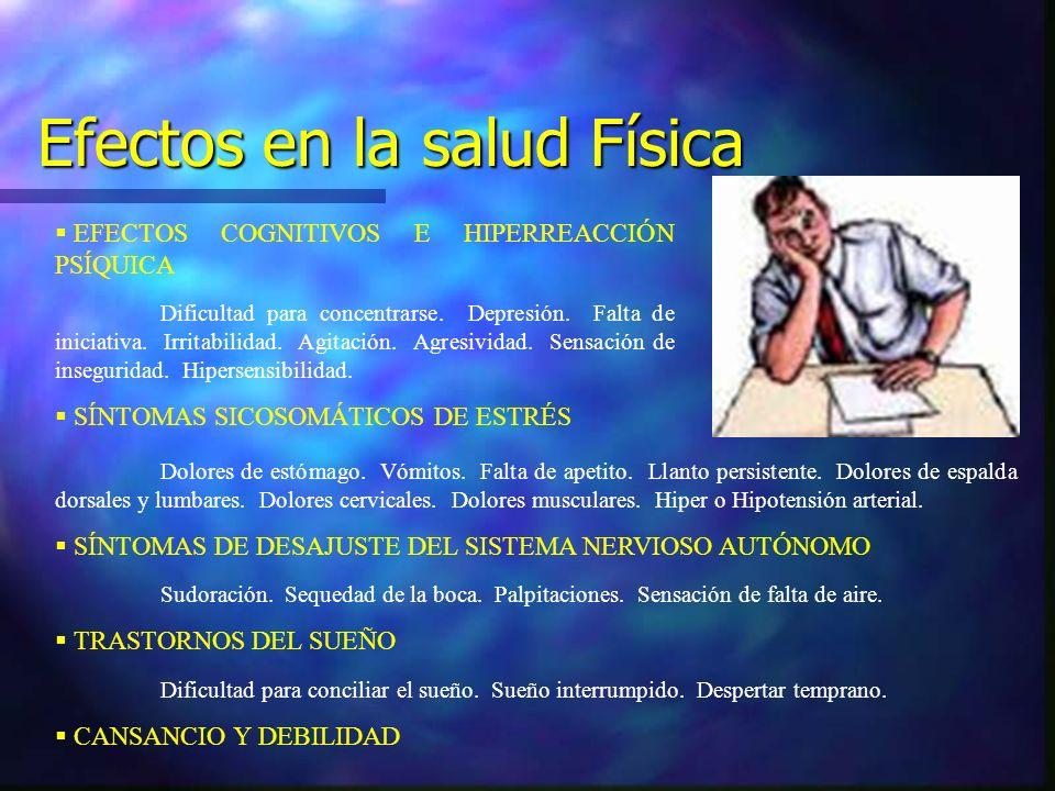 Efectos en la salud Física