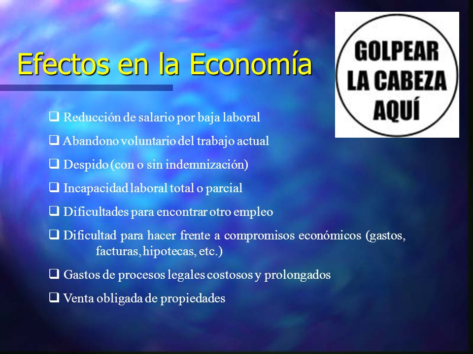 Efectos en la Economía Reducción de salario por baja laboral