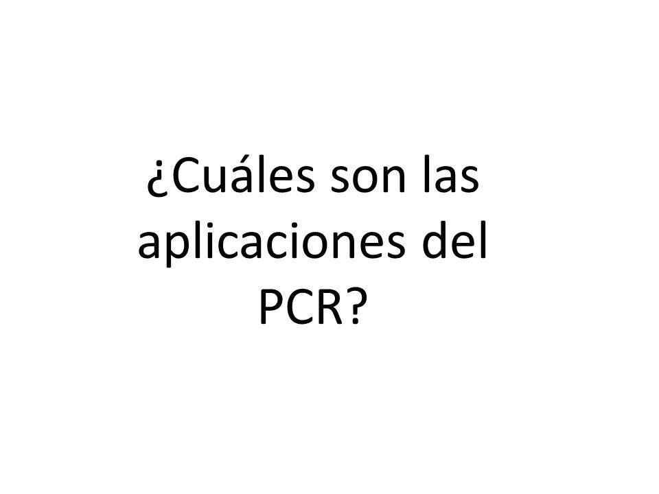 ¿Cuáles son las aplicaciones del PCR