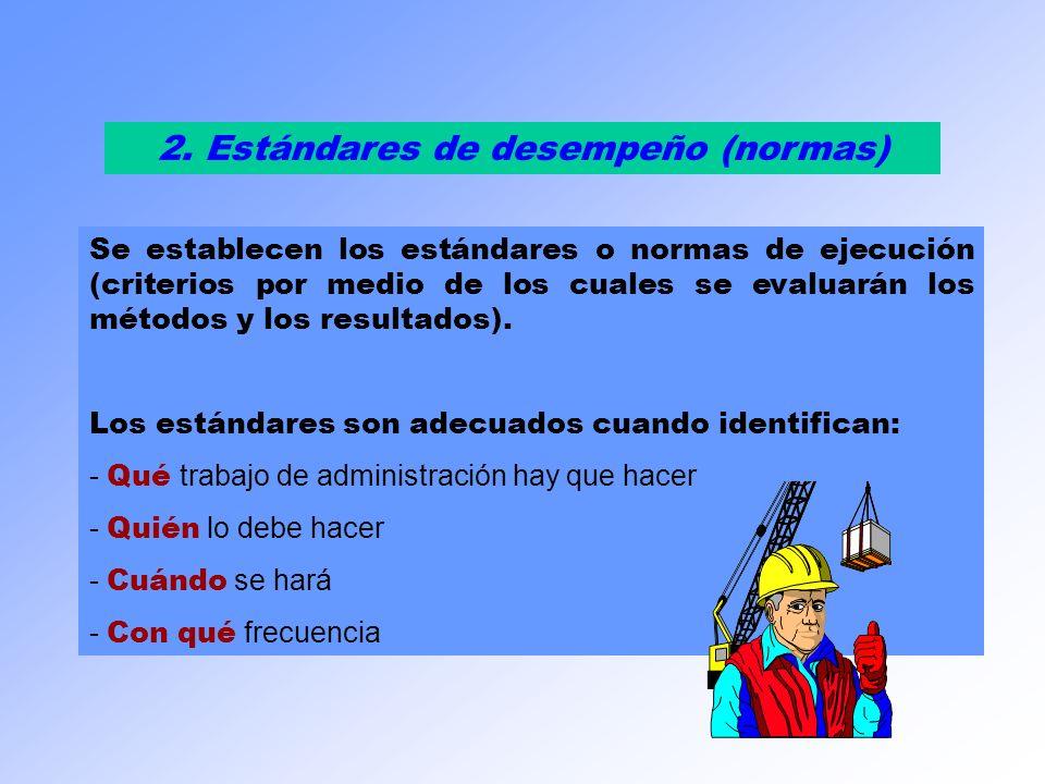 2. Estándares de desempeño (normas)