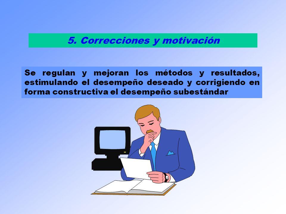 5. Correcciones y motivación