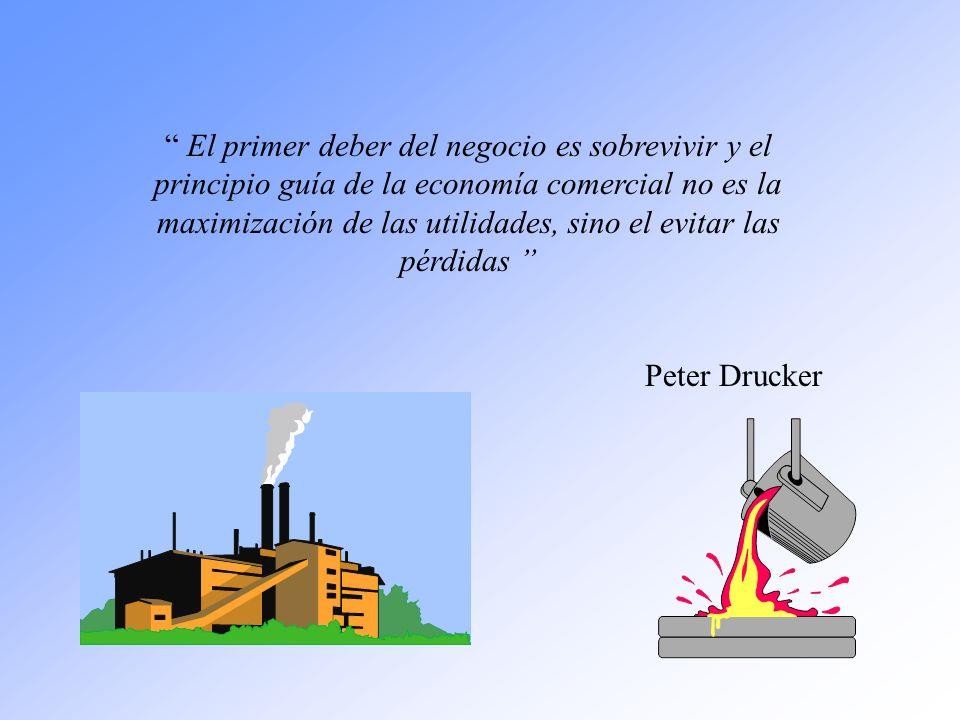 El primer deber del negocio es sobrevivir y el principio guía de la economía comercial no es la maximización de las utilidades, sino el evitar las pérdidas