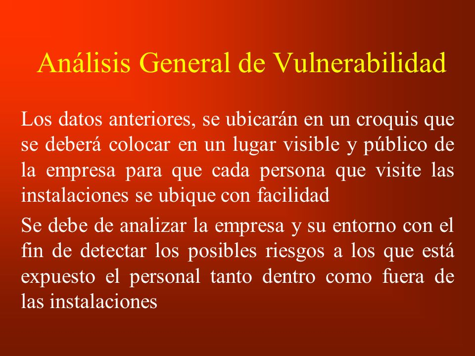 Análisis General de Vulnerabilidad