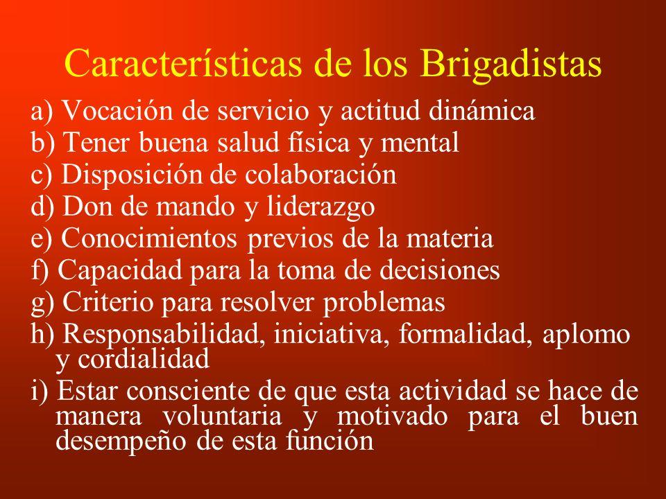 Características de los Brigadistas