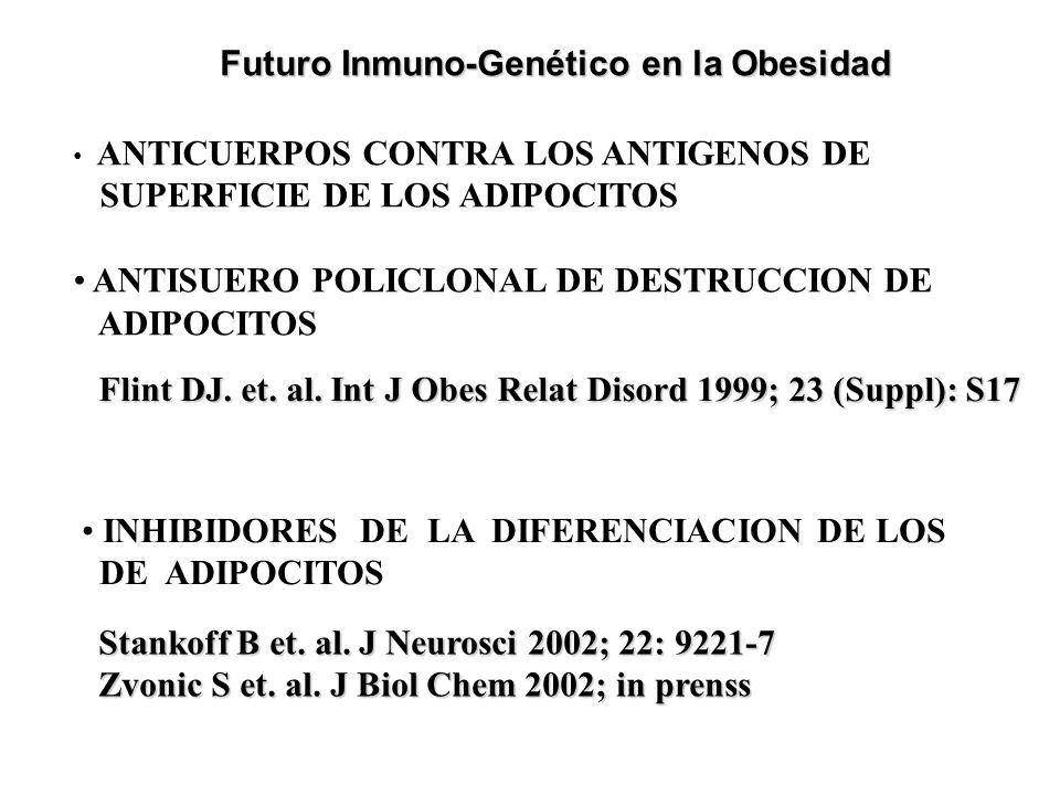 Futuro Inmuno-Genético en la Obesidad