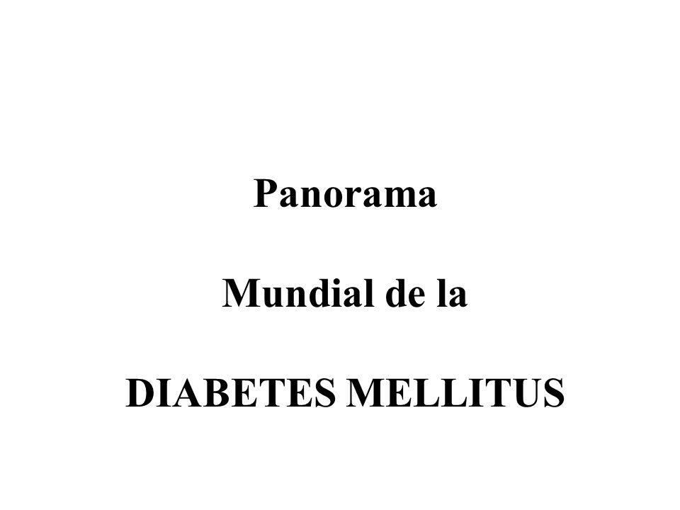 Panorama Mundial de la DIABETES MELLITUS
