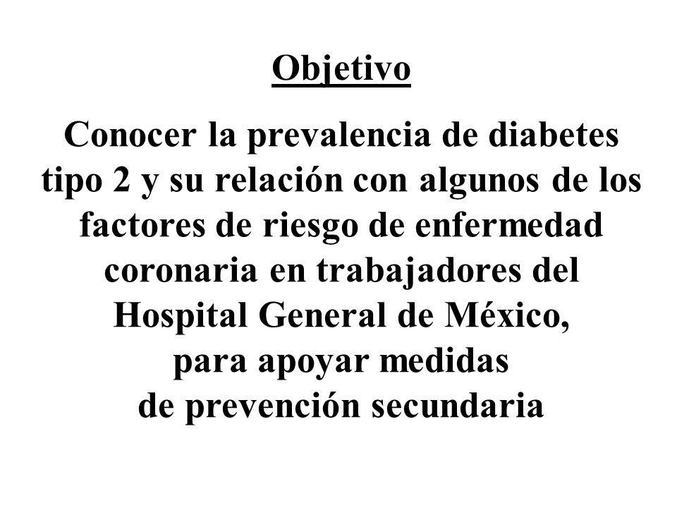 Conocer la prevalencia de diabetes