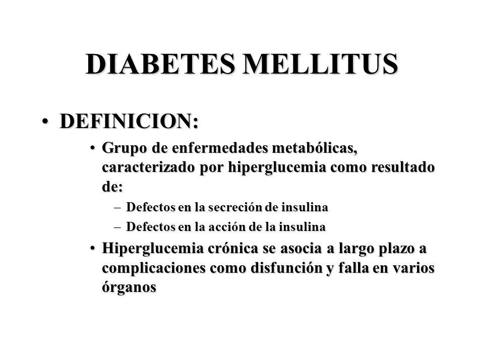 DIABETES MELLITUS DEFINICION:
