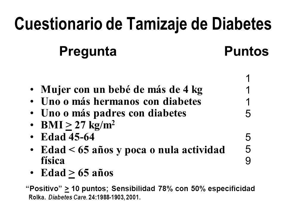 Cuestionario de Tamizaje de Diabetes