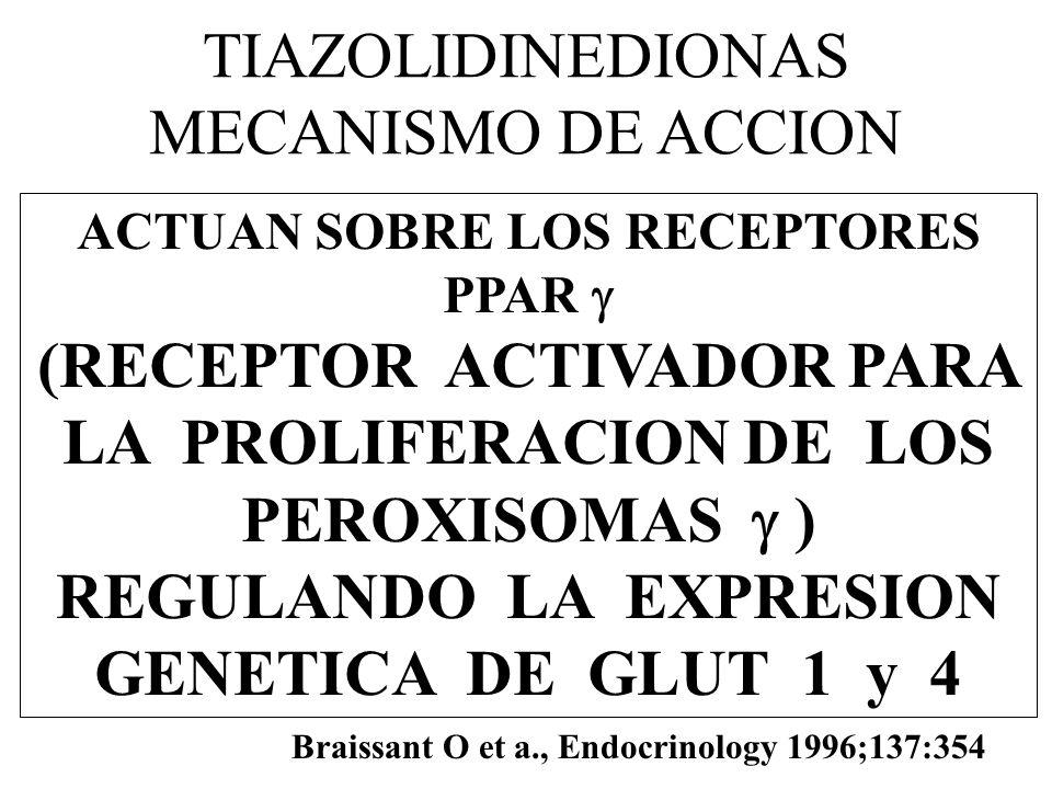 TIAZOLIDINEDIONAS MECANISMO DE ACCION