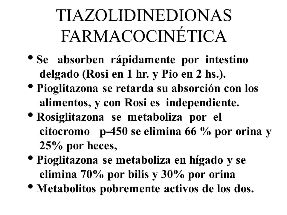 TIAZOLIDINEDIONAS FARMACOCINÉTICA