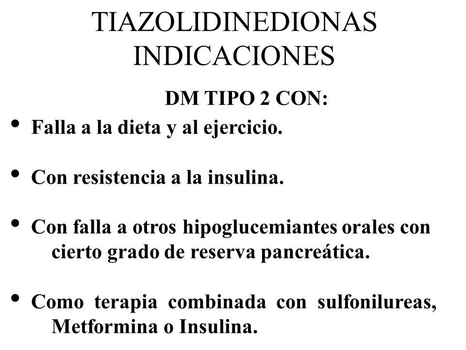 TIAZOLIDINEDIONAS INDICACIONES