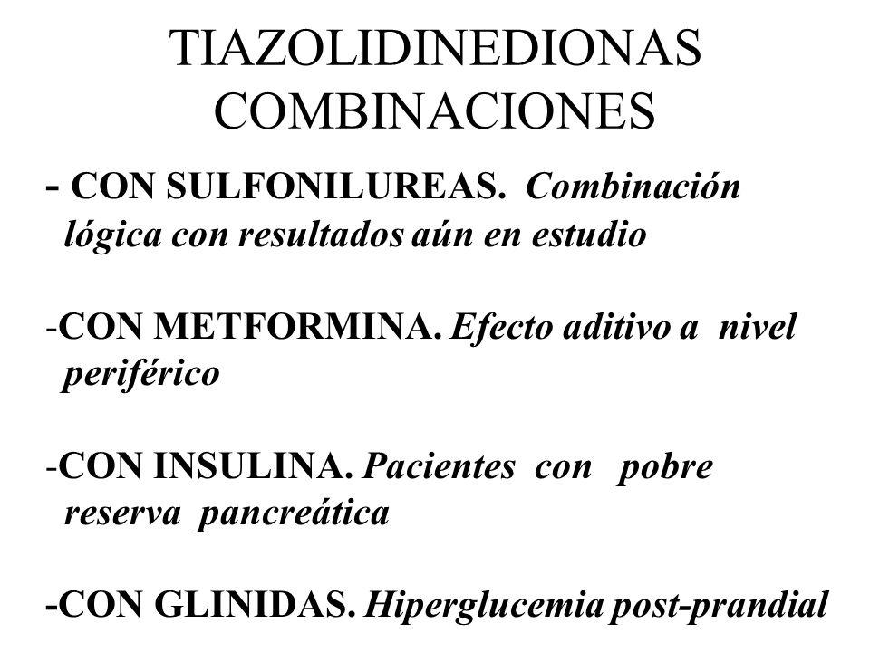 TIAZOLIDINEDIONAS COMBINACIONES