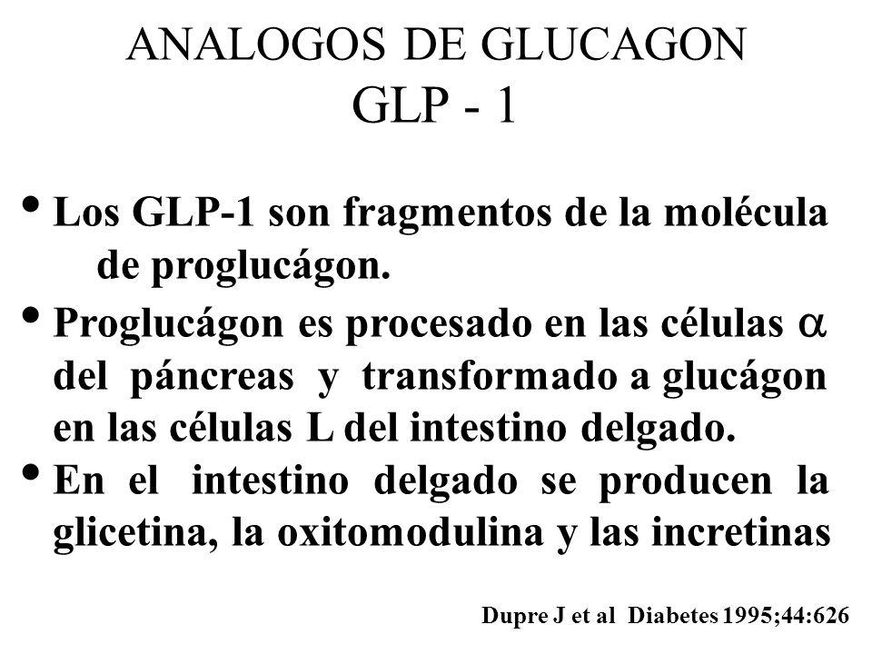 ANALOGOS DE GLUCAGON GLP - 1
