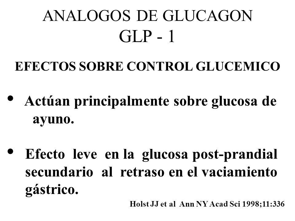 EFECTOS SOBRE CONTROL GLUCEMICO
