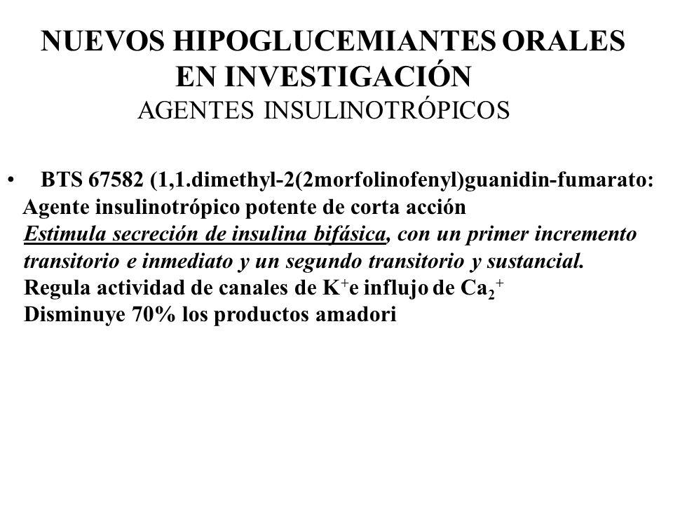 NUEVOS HIPOGLUCEMIANTES ORALES